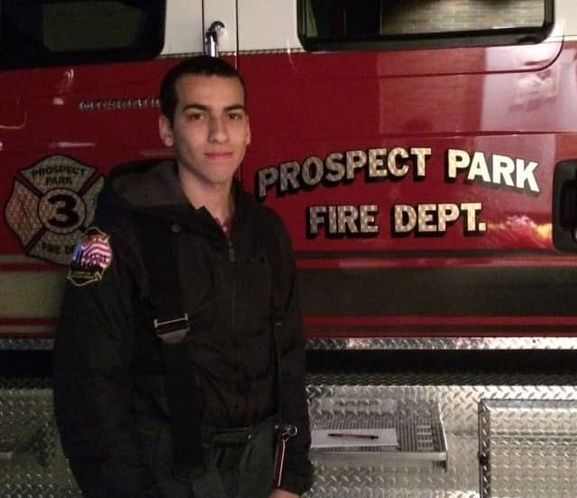 Yeisy Reyes Jr. of the Prospect Park Fire Department will run this year's toy drive.