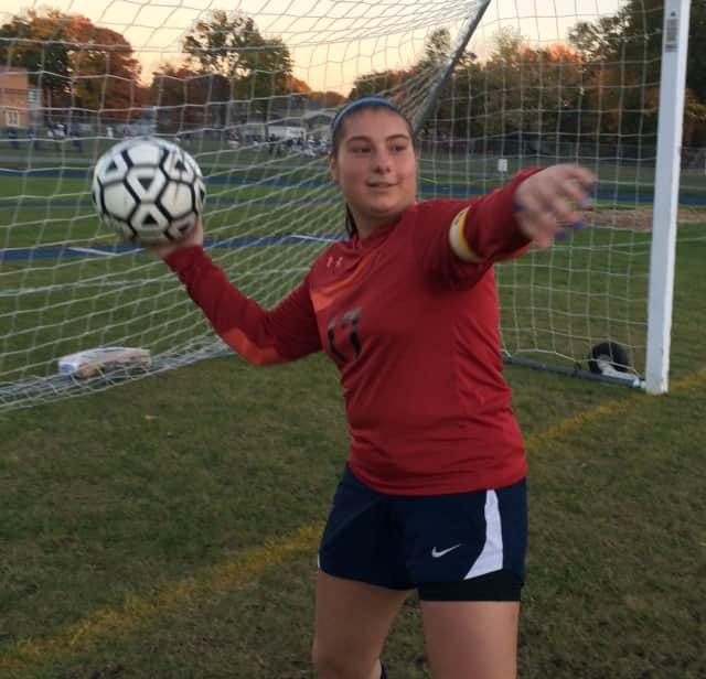 Alexa Bufi, senior captain of the Saddle Brook girls soccer team, is the school's all-time leader in shutouts.