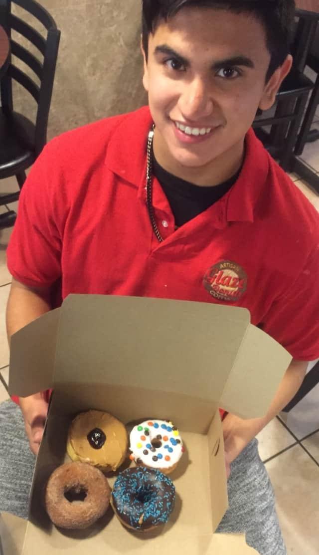 Glaze Donuts Employee Victor Barrera, 19.