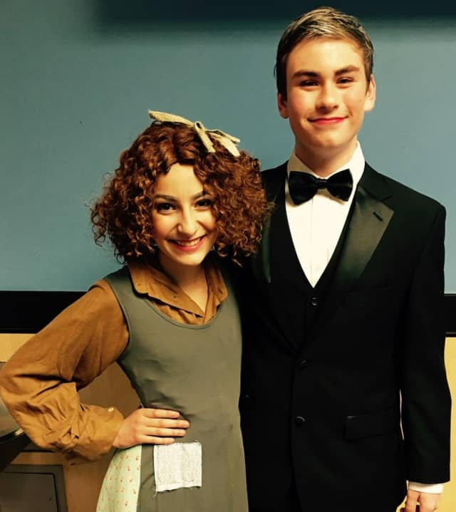 Nina Osso is Annie and Brendan O'Reilly is Oliver Warbucks. Both are attending Bergen Academies this fall (Nina the theater academy and Brendan the business academy).