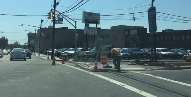 Work has begun on State Street in Hackensack.