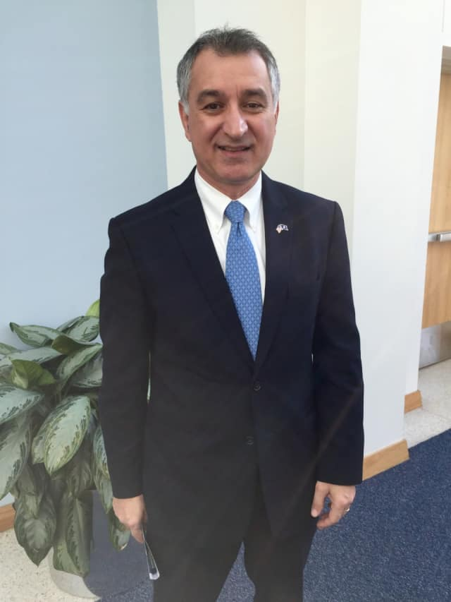 State Senator Carlo Leone held a fraud prevention event at UConn-Stamford Tuesday.