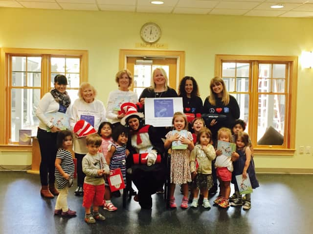 The Cat In The Hat made an appearance at Mount Kisco Child Care Center.
