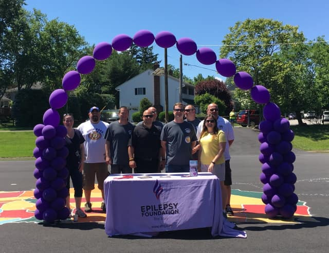 Families from Emerson's Memorial School in held a walk-a-thon to benefit the Epilepsy Foundation of New Jersey earlier this week.
