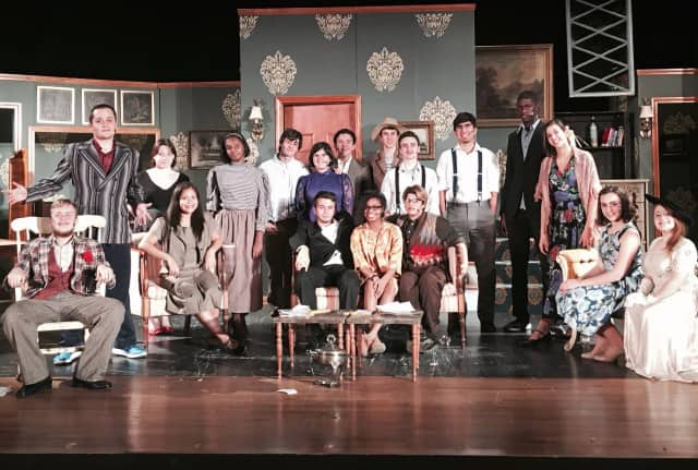 """Most of the main cast of Port Chester High School's """"You Can't Take It With You,"""" a comedy play being performed Thursday Nov. 19 through Saturday."""