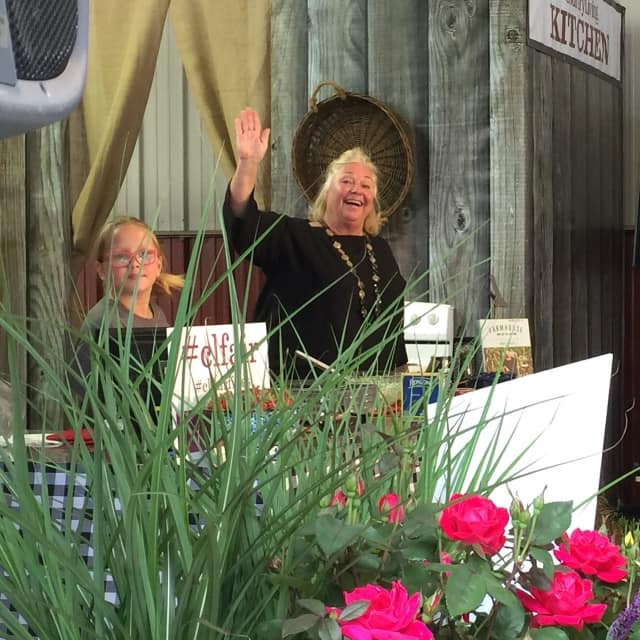 Food Network star Nancy Fuller, a Hudson Valley chef, author and resident, met fans and fed them a spring salad at the Country Living Fair in Rhinebeck last weekend.