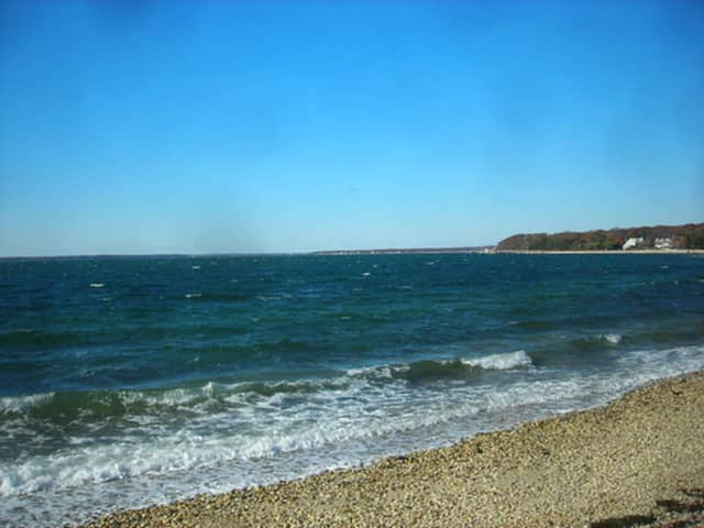Great Peconic Bay in Suffolk where the man was injured.
