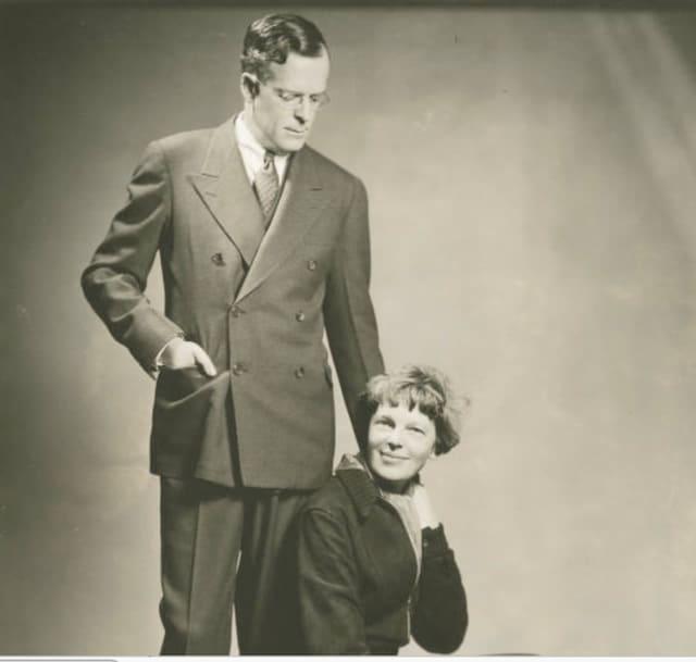 George Putnam of Rye and Amelia Earhart.