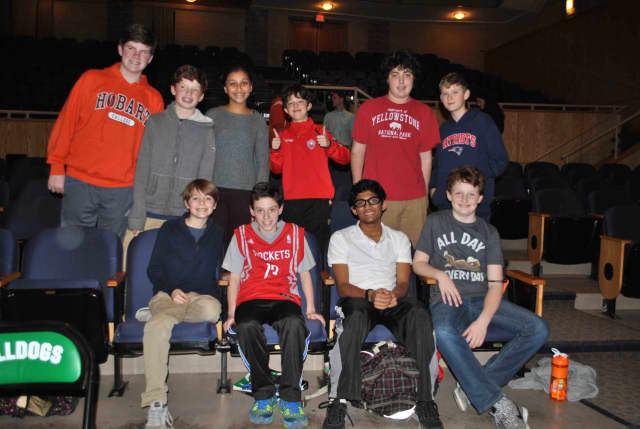 Pictured are the 10 finalists of Irvington Middle School's annual Geography Bee.