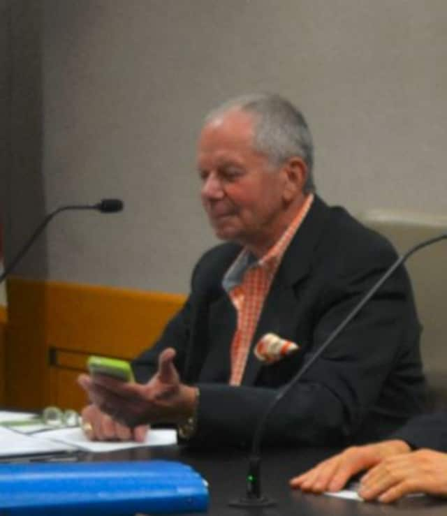 Gerry Golub, pictured at a 2014 New Castle Zoning Board of Appeals meeting.