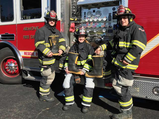 L to R: Firefighters Nick Langer, Julie Gallagher and Sonny Vataj.