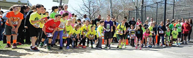 Participants getting ready to run, at last year's event.
