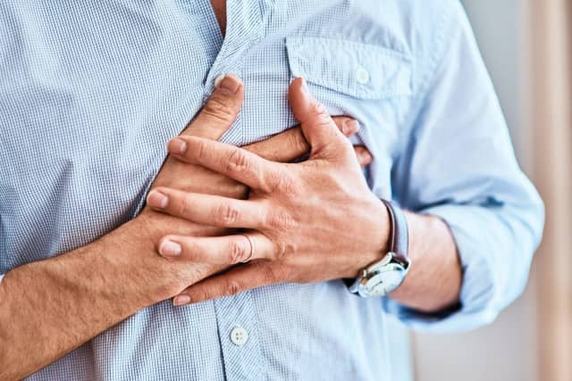 The most common symptoms of GERD are heartburn — a burning sensation in the chest or throat, and regurgitation — the sensation of stomach or food contents rising up into the chest and the back of the throat.