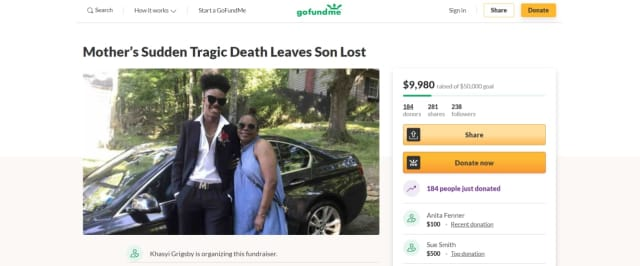 Nearly $10,000 has been raised to support the son of a woman killed in a hit-and-run crash in Rockland County over the weekend.
