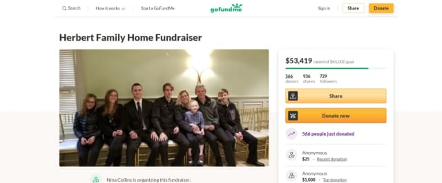 More than $53,000 has been raised to support the seven children of a Westchester County woman who died last week of a heart attack.