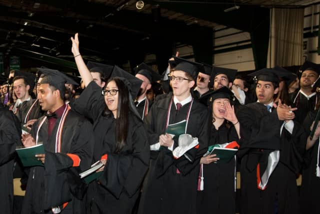 Manhattan celebrated its annual commencement ceremony last month.