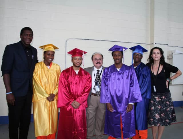Four students graduated from the SWBOCES Sprain Brook Academy at the Westchester County Jail.