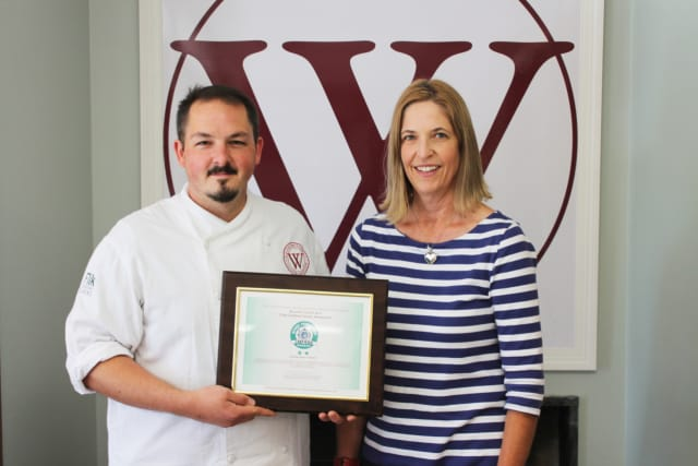 Chef Manager Rick Demers and Sustainability Coordinator Madyn Gwynne.