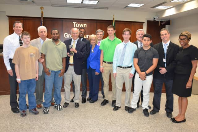 The Town Of Greenburgh honored carpenters from BOCES.