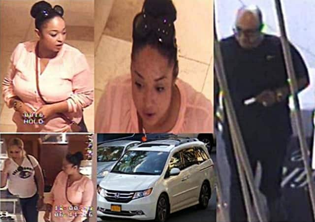 These folks are sought for a July 11 shoplifting incident at Saks of Greenwich.