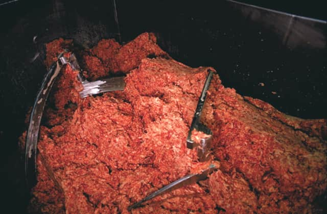 Consumer reports says ground beef contains potentially harmful bacteria unless cooked properly.