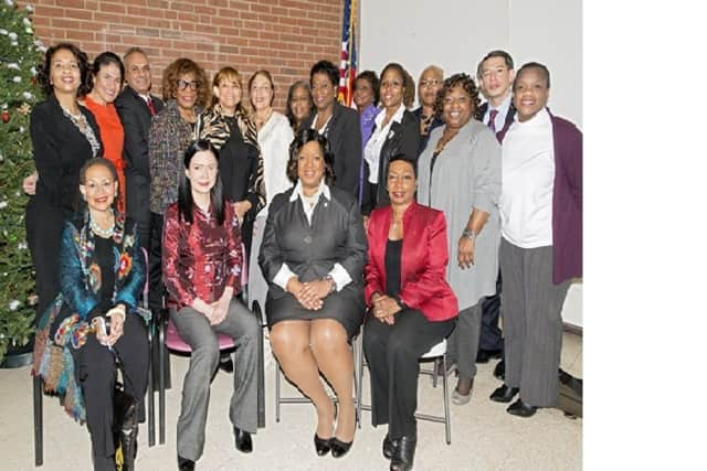 "Organizers and volunteers joined event speakers at the Dec. 10 YWCA of White Plains & Central Westchester symposium on the ""State of Women of Color."""