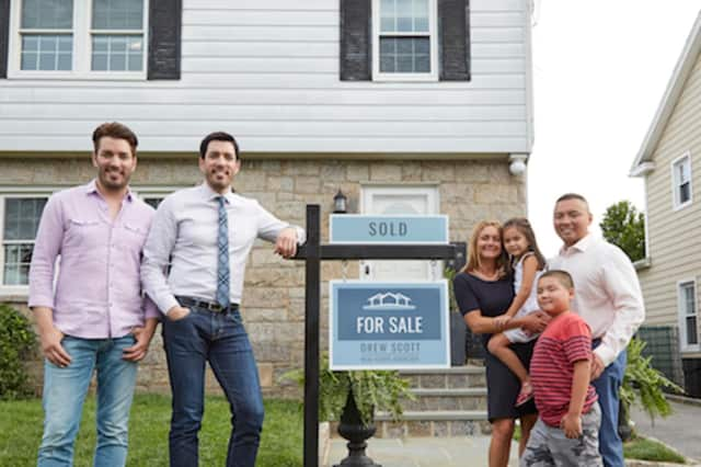 The Property Brothers, Jonathan and Drew Scott, in Eastchester.