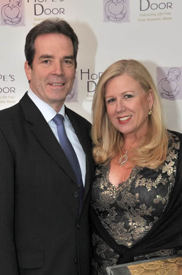 Jean Marie Connolly, who will be honored at Hope's Door 2017 Annual Gala, with her husband, Mark.