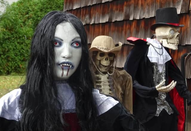 Dennis Morton goes all out to decorate his Waldwick yard for Halloween every year.