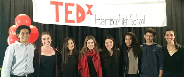 Eight students at Harrison High School presented at a TEDx event organized by juniors Valerie Hesse and Madeline Rawson.