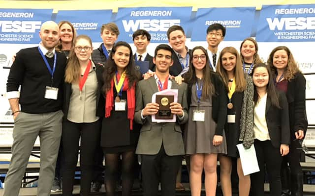 Twelve Harrison High School Science Research students received awards for their presentation at a Westchester County competition.