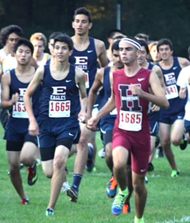 Harrison High School Graduate Ricky Harris shined this season as a freshman on Pace University's Cross Country team.