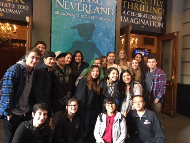 "Harrison High School students took in a workshop and watched ""Finding Neverland."""