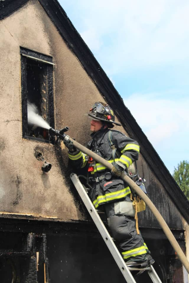 Hasbrouck Heights firefighters needed barely 20 minutes to douse the Columbus Avenue blaze.