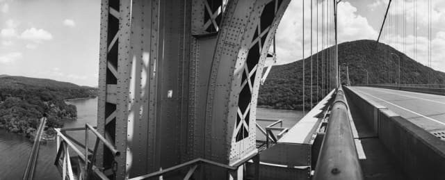 "Harry Wilks' ""Bear Mountain Bridge"" (1997), silver print. Collection of the Hudson River Museum."