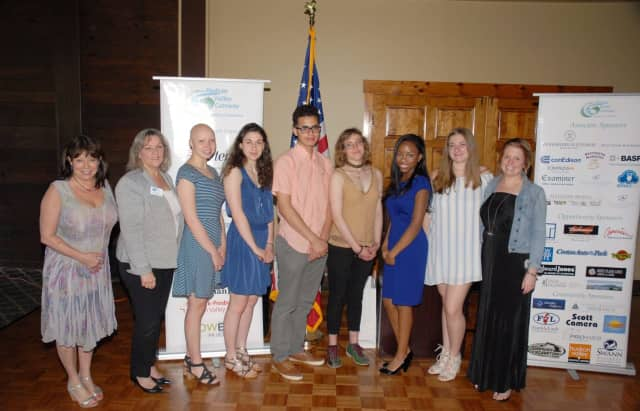 Six area high school students each received $1,000 scholarships from the Hudson Valley Gateway Chamber of Commerce recently