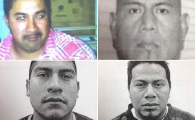 The four alleged victims, clockwise from top left: Miguel Sosa-Luna, Martin Santos-Luna, Urbano Morales-Santiago and Hector Guitierrez.