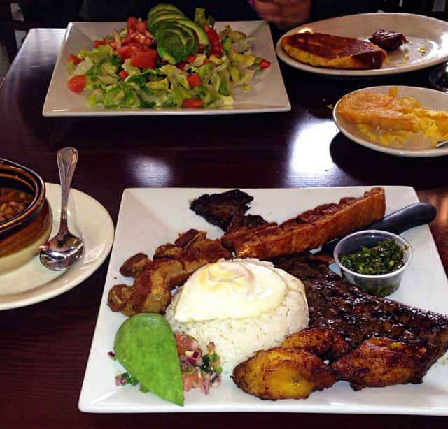 The East Rutherford Memorial Library is hosting a tour of South American cuisine on June 15. Shown here are eats from Hackensack's Villa De Colombia.