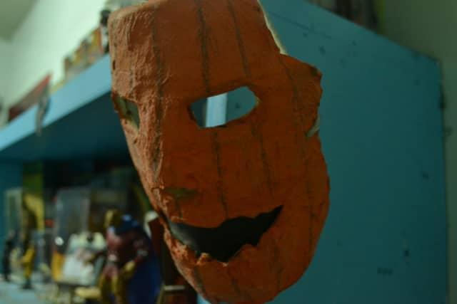 A Halloween mask