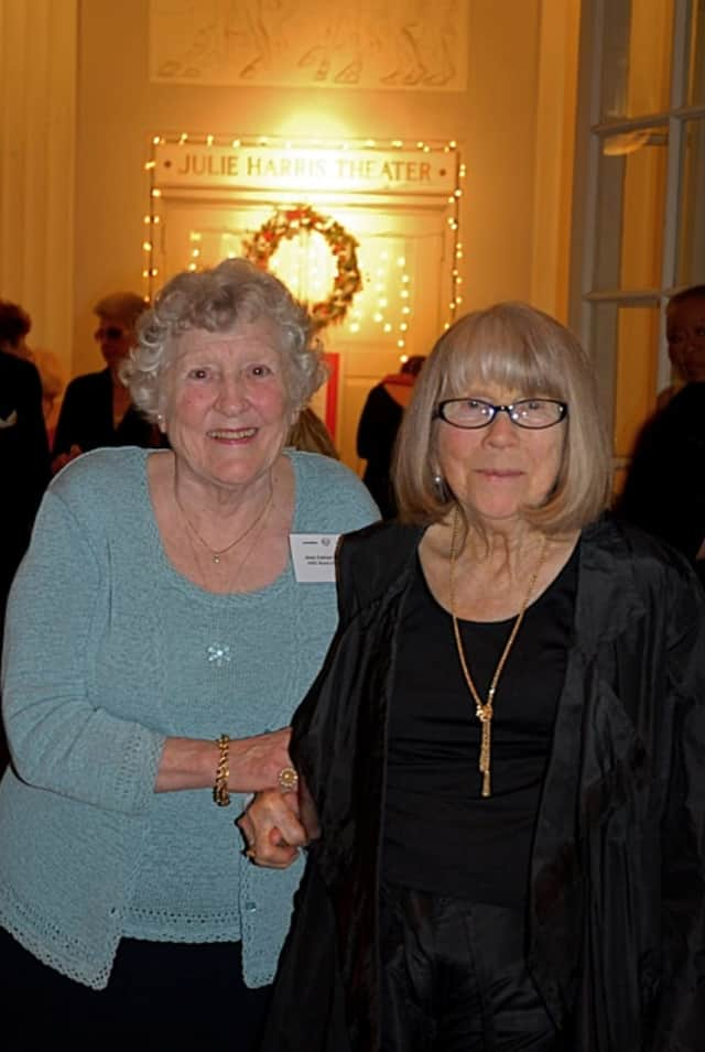 The late Anne Harmon, left, a champion of children with special needs, is shown with the late actress Julie Harris, a longtime supporter of The Clear View School in Briarcliff Manor. Harmon died recently at her Ardsley-on-Hudson home.