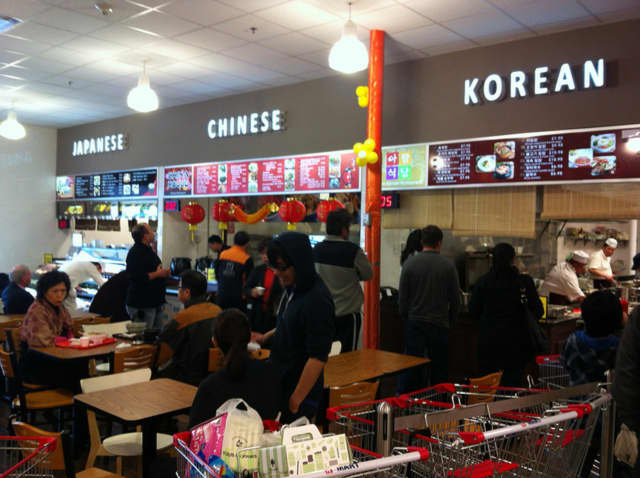 This is the food court at the Hartsdale location of Hmart, which is opening a new store in Yonkers.