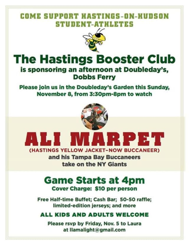 The Hastings Booster Club will hold a fundraiser on Sunday.
