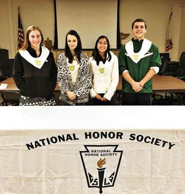 Hasting High students Julia Dayan, Sharon Goiz, Teja LoBregli and Grant Hevia, became members of the National Honor Society on Wednesday.