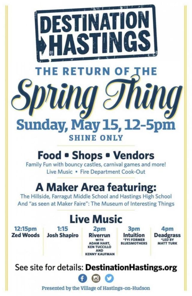 Food, music and fun are planned at the annual Spring Thing in Hastings.