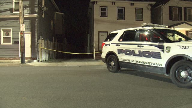 Haverstraw police are investigating the shooting of two men during a large gathering of people.