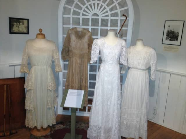 The Ridgewood Schoolhouse Museum is hosting an exhibit on hemlines through December.