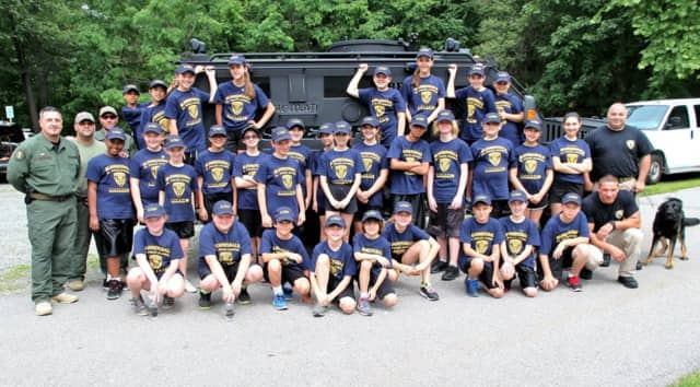 Here are last year's attendees of the Junior Police Academy.