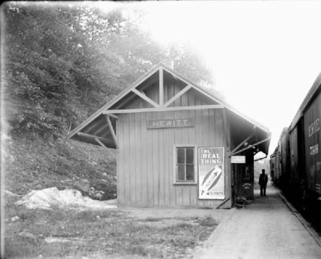 The foundation of the proposed Highlands Rail Trail would be the historic alignment of the New York and Greenwood Lake Railway, which included this station in Hewitt.