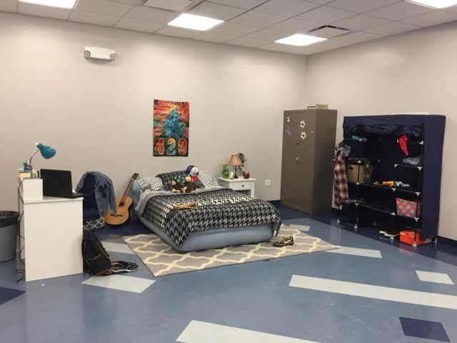 "Parents participating in the ""Hidden in Plain Sight"" event in Teaneck will search a mock-bedroom for drug-related items."