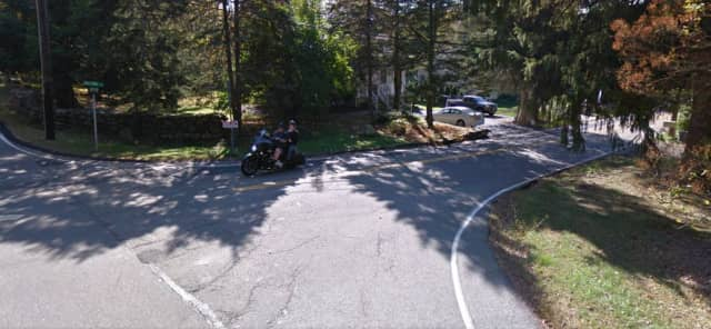 The corner of Hillside Avenue and Saddle River Road in Airmont, N.Y.